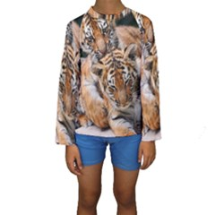 Baby Tigers Kid s Long Sleeve Swimwear