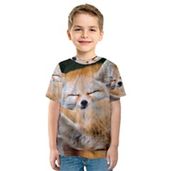 BABY FOX SLEEPING Kid s Sport Mesh Tees