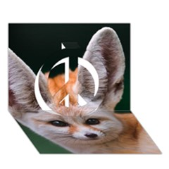 Baby Fox Peace Sign 3d Greeting Card (7x5)
