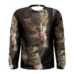 Talk To The Paw Men s Long Sleeve T Shirts