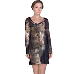 Talk To The Paw Long Sleeve Nightdresses