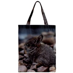 Small Baby Bunny Zipper Classic Tote Bags