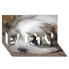 Sad Puppy Party 3d Greeting Card (8x4)