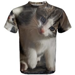 Questioning Kitty Men s Cotton Tees