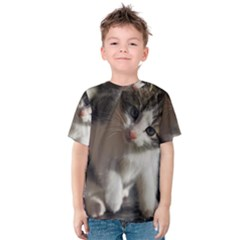 QUESTIONING KITTY Kid s Cotton Tee