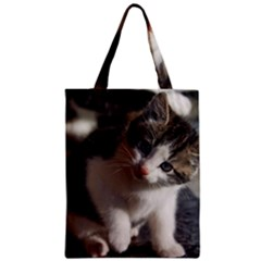 Questioning Kitty Zipper Classic Tote Bags