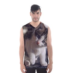 Questioning Kitty Men s Basketball Tank Top