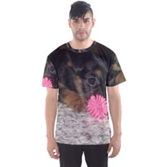 Puppy With A Chew Toy Men s Sport Mesh Tees