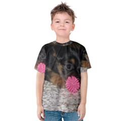 PUPPY WITH A CHEW TOY Kid s Cotton Tee
