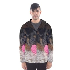 PUPPY WITH A CHEW TOY Hooded Wind Breaker (Men)