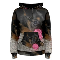 Puppy With A Chew Toy Women s Pullover Hoodies