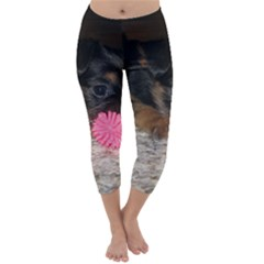 PUPPY WITH A CHEW TOY Capri Winter Leggings