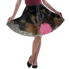 PUPPY WITH A CHEW TOY A-line Skater Skirt