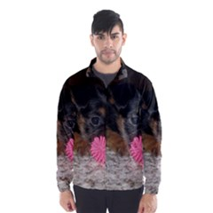 PUPPY WITH A CHEW TOY Wind Breaker (Men)