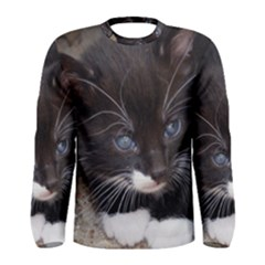 Kitty In A Corner Men s Long Sleeve T Shirts
