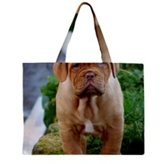 Cute Wrinkly Puppy Zipper Tiny Tote Bags