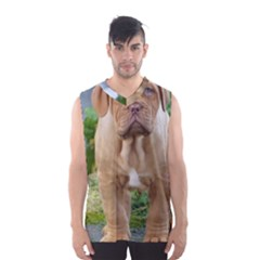 CUTE WRINKLY PUPPY Men s Basketball Tank Top