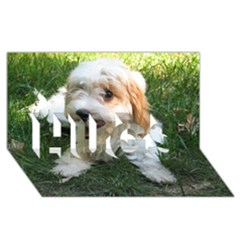 Cute Cavapoo Puppy Hugs 3d Greeting Card (8x4)