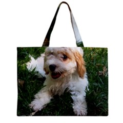 Cute Cavapoo Puppy Zipper Tiny Tote Bags