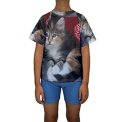COMFY KITTY Kid s Short Sleeve Swimwear
