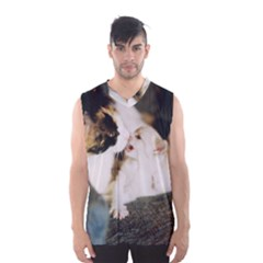 CALICO CAT AND WHITE KITTY Men s Basketball Tank Top