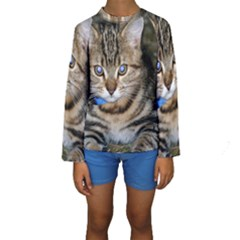 BLUE-EYED KITTY Kid s Long Sleeve Swimwear
