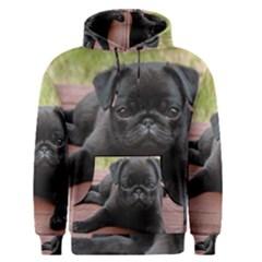 Alert Pug Puppy Men s Pullover Hoodies