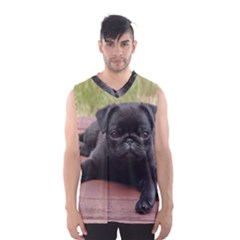 ALERT PUG PUPPY Men s Basketball Tank Top