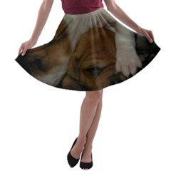 Adorable Baby Puppies A Line Skater Skirt