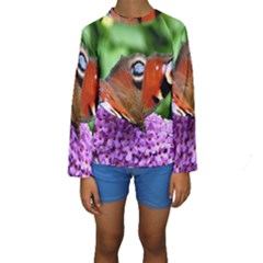 PEACOCK BUTTERFLY Kid s Long Sleeve Swimwear