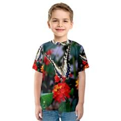 BUTTERFLY FLOWERS 1 Kid s Sport Mesh Tees
