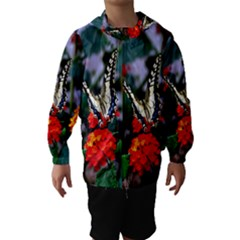 Butterfly Flowers 1 Hooded Wind Breaker (kids)