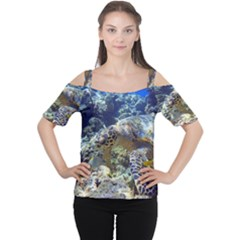 Sea Turtle Women s Cutout Shoulder Tee