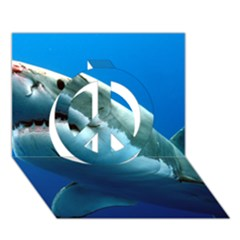 Great White Shark 3 Peace Sign 3d Greeting Card (7x5)