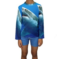 GREAT WHITE SHARK 3 Kid s Long Sleeve Swimwear