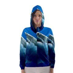 Great White Shark 3 Hooded Wind Breaker (women)