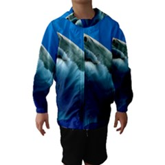 GREAT WHITE SHARK 3 Hooded Wind Breaker (Kids)