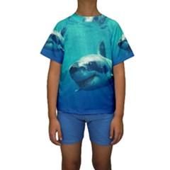 GREAT WHITE SHARK 1 Kid s Short Sleeve Swimwear