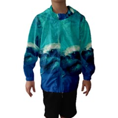 GREAT WHITE SHARK 1 Hooded Wind Breaker (Kids)