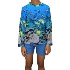 FR FRIGATE SHOALS Kid s Long Sleeve Swimwear