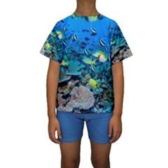 FR FRIGATE SHOALS Kid s Short Sleeve Swimwear
