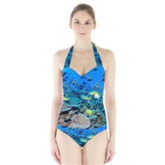 FR FRIGATE SHOALS Women s Halter One Piece Swimsuit