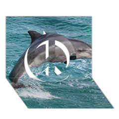 Dolphin Peace Sign 3d Greeting Card (7x5)