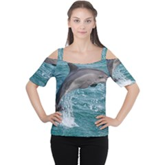 Dolphin Women s Cutout Shoulder Tee