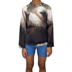 CUTE SEA LION Kid s Long Sleeve Swimwear