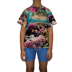 Coral Reefs 1 Kid s Short Sleeve Swimwear