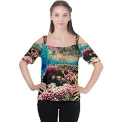 CORAL REEFS 1 Women s Cutout Shoulder Tee