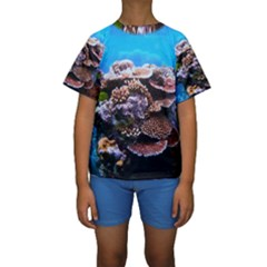 CORAL OUTCROP 2 Kid s Short Sleeve Swimwear