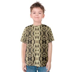 Gold Fabric Pattern Design Kid s Cotton Tee