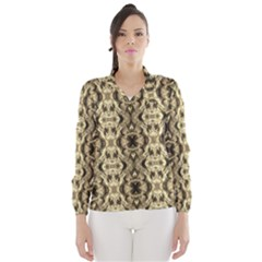 Gold Fabric Pattern Design Wind Breaker (women)